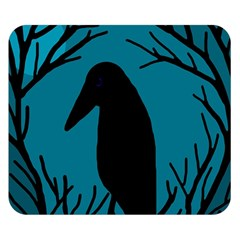 Halloween raven - Blue Double Sided Flano Blanket (Small)