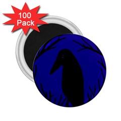 Halloween raven - deep blue 2.25  Magnets (100 pack)