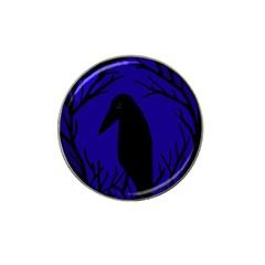 Halloween raven - deep blue Hat Clip Ball Marker (10 pack)