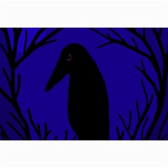Halloween raven - deep blue Collage Prints