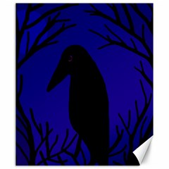 Halloween raven - deep blue Canvas 20  x 24