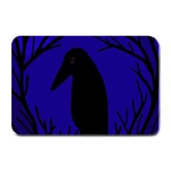 Halloween raven - deep blue Plate Mats