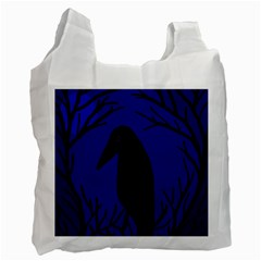 Halloween raven - deep blue Recycle Bag (Two Side)
