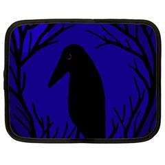 Halloween raven - deep blue Netbook Case (XL)