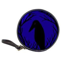 Halloween raven - deep blue Classic 20-CD Wallets