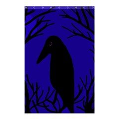 Halloween raven - deep blue Shower Curtain 48  x 72  (Small)