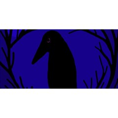 Halloween raven - deep blue YOU ARE INVITED 3D Greeting Card (8x4)