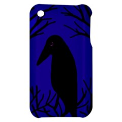 Halloween raven - deep blue Apple iPhone 3G/3GS Hardshell Case