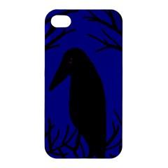 Halloween raven - deep blue Apple iPhone 4/4S Hardshell Case