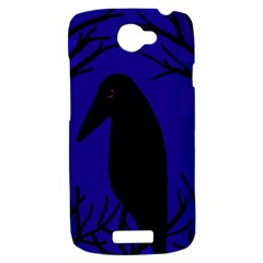 Halloween raven - deep blue HTC One S Hardshell Case