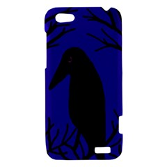 Halloween raven - deep blue HTC One V Hardshell Case