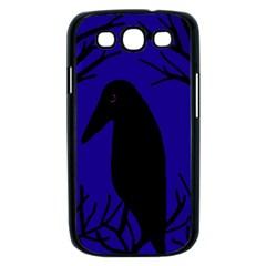 Halloween raven - deep blue Samsung Galaxy S III Case (Black)
