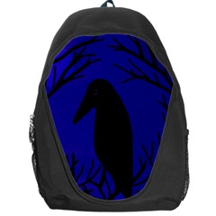 Halloween raven - deep blue Backpack Bag