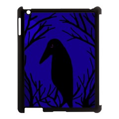 Halloween raven - deep blue Apple iPad 3/4 Case (Black)