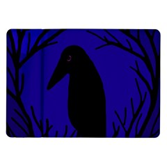 Halloween raven - deep blue Samsung Galaxy Tab 10.1  P7500 Flip Case
