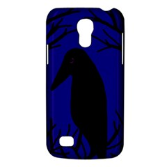 Halloween raven - deep blue Galaxy S4 Mini