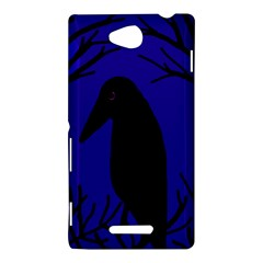 Halloween raven - deep blue Sony Xperia C (S39H)
