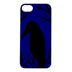 Halloween raven - deep blue Apple iPhone 5S/ SE Hardshell Case