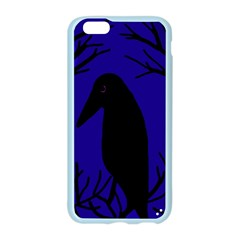 Halloween raven - deep blue Apple Seamless iPhone 6/6S Case (Color)