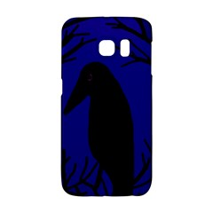 Halloween raven - deep blue Galaxy S6 Edge