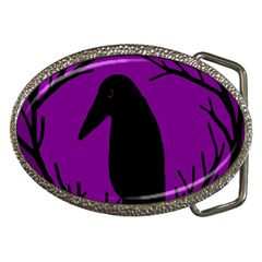 Halloween raven - purple Belt Buckles