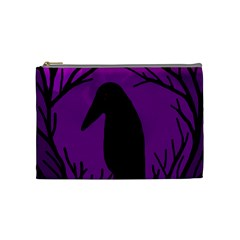 Halloween raven - purple Cosmetic Bag (Medium)