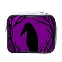 Halloween raven - purple Mini Toiletries Bags