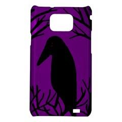 Halloween raven - purple Samsung Galaxy S2 i9100 Hardshell Case