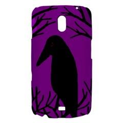 Halloween raven - purple Samsung Galaxy Nexus i9250 Hardshell Case