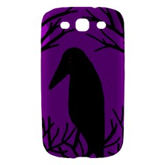 Halloween raven - purple Samsung Galaxy S III Hardshell Case