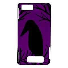 Halloween raven - purple Motorola DROID X2