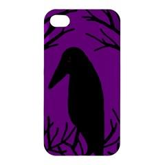 Halloween raven - purple Apple iPhone 4/4S Premium Hardshell Case