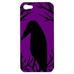 Halloween raven - purple Apple iPhone 5 Hardshell Case