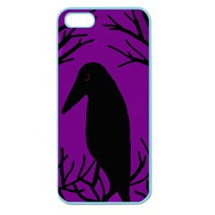 Halloween raven - purple Apple Seamless iPhone 5 Case (Color)
