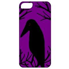 Halloween raven - purple Apple iPhone 5 Classic Hardshell Case