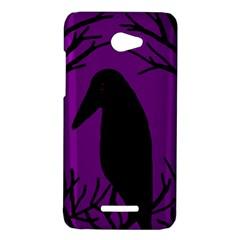 Halloween raven - purple HTC Butterfly X920E Hardshell Case