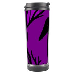Halloween raven - purple Travel Tumbler