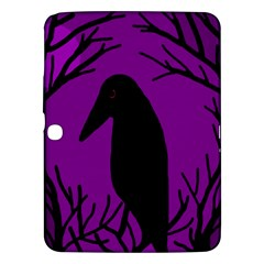 Halloween raven - purple Samsung Galaxy Tab 3 (10.1 ) P5200 Hardshell Case