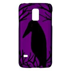 Halloween raven - purple Galaxy S5 Mini