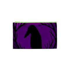 Halloween raven - purple Cosmetic Bag (XS)