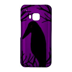 Halloween raven - purple HTC One M9 Hardshell Case