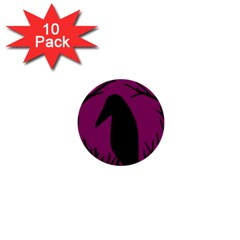 Halloween raven - magenta 1  Mini Buttons (10 pack)