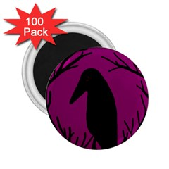 Halloween raven - magenta 2.25  Magnets (100 pack)