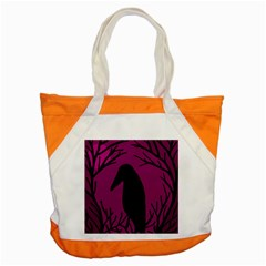 Halloween raven - magenta Accent Tote Bag