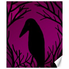 Halloween raven - magenta Canvas 8  x 10
