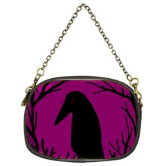 Halloween raven - magenta Chain Purses (Two Sides)