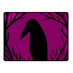 Halloween raven - magenta Fleece Blanket (Small)