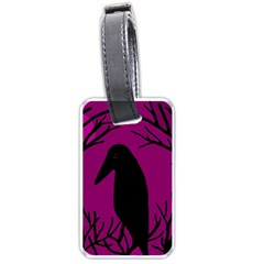 Halloween raven - magenta Luggage Tags (Two Sides)