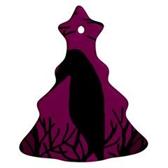Halloween raven - magenta Ornament (Christmas Tree)