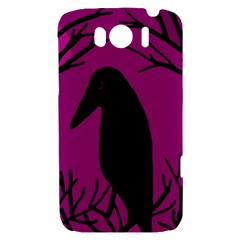Halloween raven - magenta HTC Sensation XL Hardshell Case